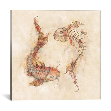 """Yin Yang Fish (18""""W x 18""""H x 0.75""""D)"""