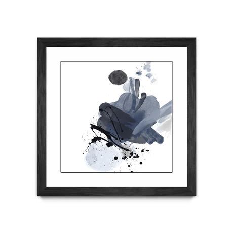 """Blue & Black Splash I (20""""W x 20""""H x 1""""D)"""