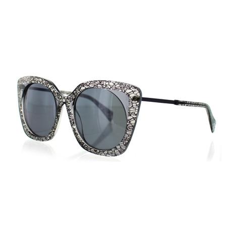 Yohji Yamamoto // Aviator Sunglasses // Black Lace + Black