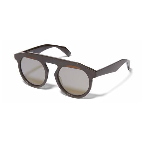 Yohji Yamamoto // Round Sunglasses // Brown + Brown