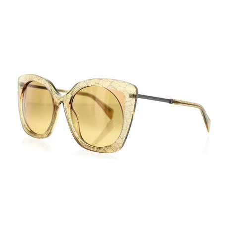Women's YY-5018-180 Round Sunglasses // Brown