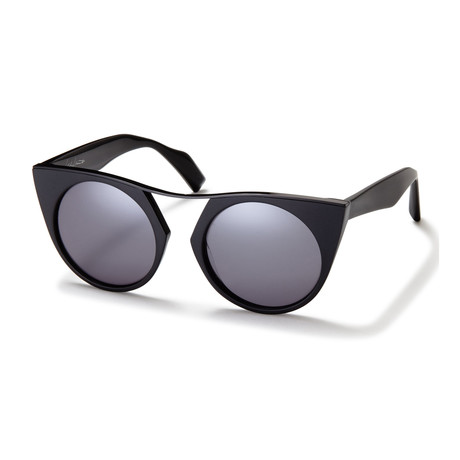 Unisex YY-5012-002 Round Sunglasses // Black + Gray