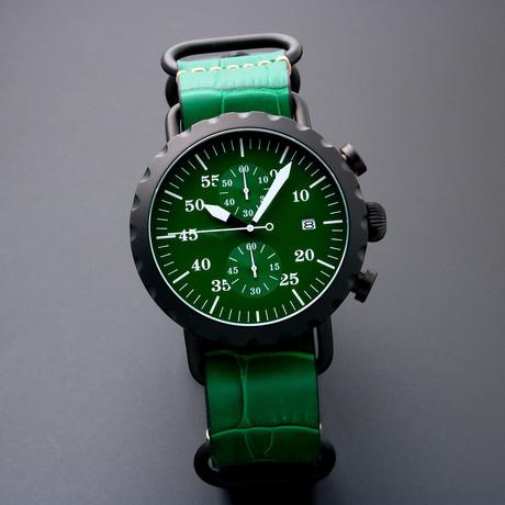 Peregrine Squadron Pilot Chronograph Quartz // PSA-CH-DLC-2G // Unworn