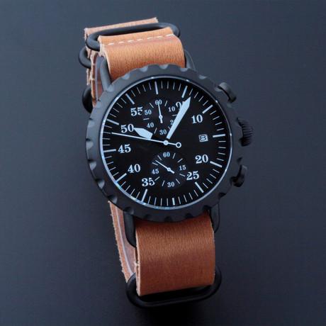 Peregrine Squadron Pilot Chronograph Quartz // PSA-CH-DLC-1C // Unworn