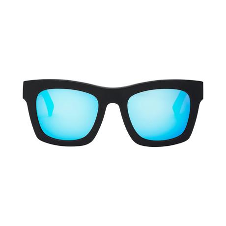 Crasher // Matte Black + OHM Sky Blue Chrome