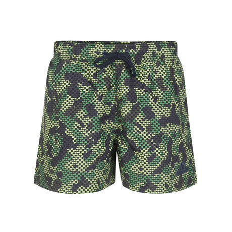 Camo Print Swimsuit // Green (S)