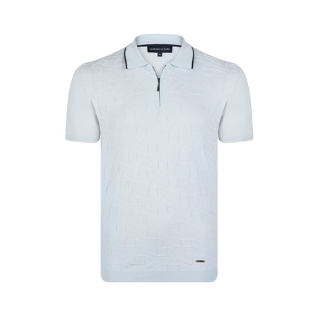 Gabriel Knitwear Polo Shirt // Light Blue (XS)