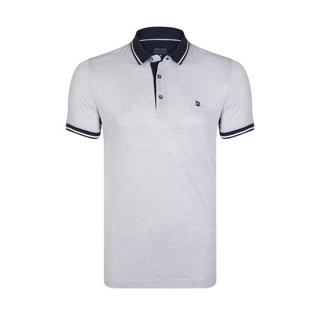 Polo Shirt // White + Navy (S)