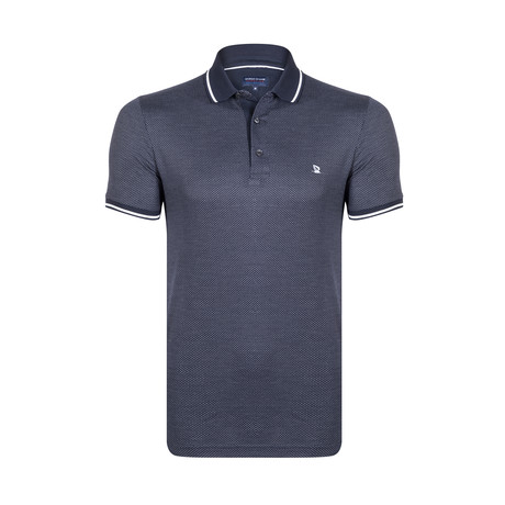 Dotted Polo Shirt // Navy + White (S)