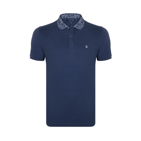 Pasiley Collar Polo Shirt // Navy (S)