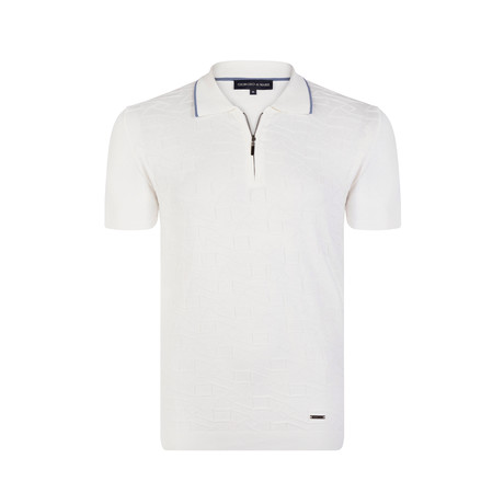 Demarion Knitwear Polo Shirt // Ecru (XS)