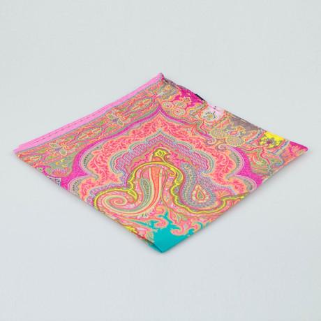 Etro // Paisley Pattern Silk Pocket Square // Multicolor