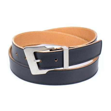 YSL Saint Laurent Paris // Leather Belt // Black