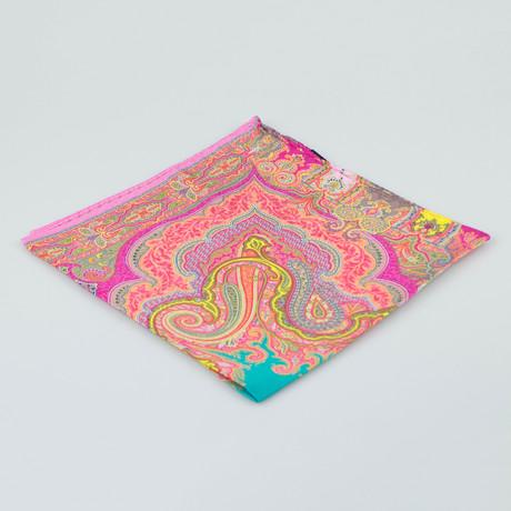 Etro // Paisley Pattern Silk Pocket Square II // Multicolor