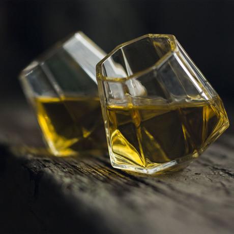 Diamond Shot Glasses // Set of 2