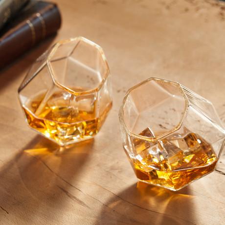 Diamond Whiskey Glasses // Set of 2