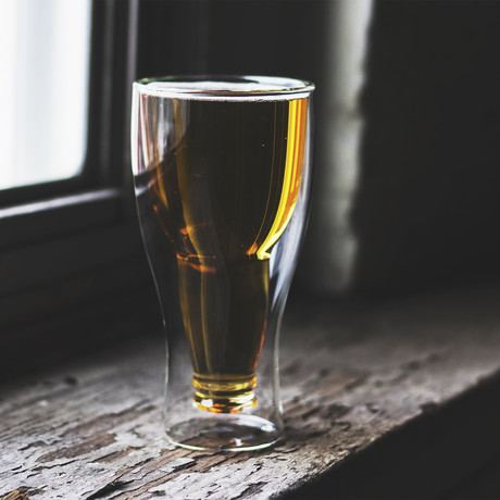 Upside Down Beer Glass (Set of 1)
