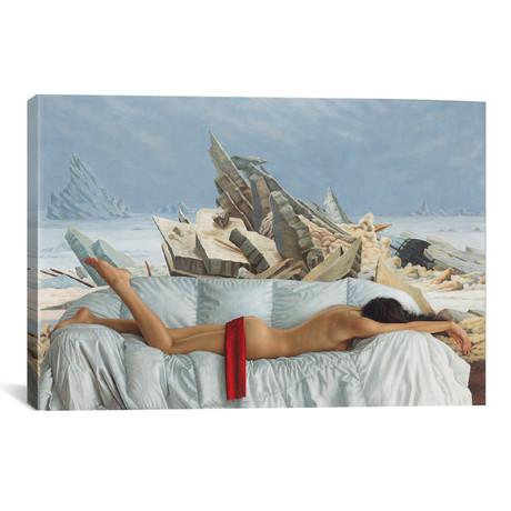 """The Sea Of Ice // Omar Ortiz (26""""W x 18""""H x 0.75""""D)"""