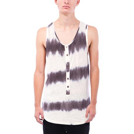 Lawson Tie Dye Henley Tank // Black (S)