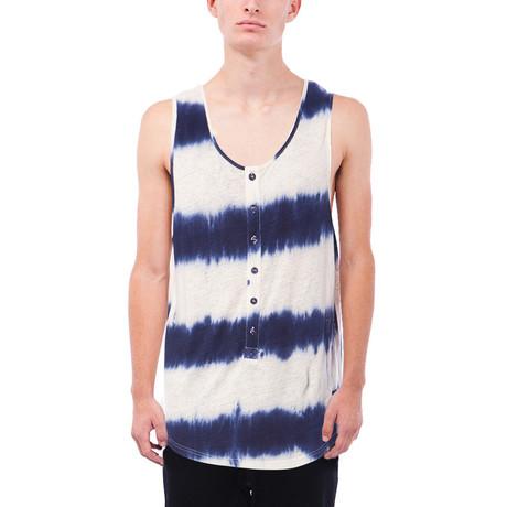 Lawson Tie Dye Henley Tank // Blue (S)