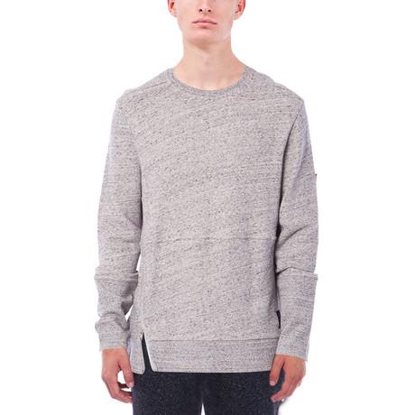 Maddox Marled French Terry Crewneck Sweatshirt // Heather Grey (S)