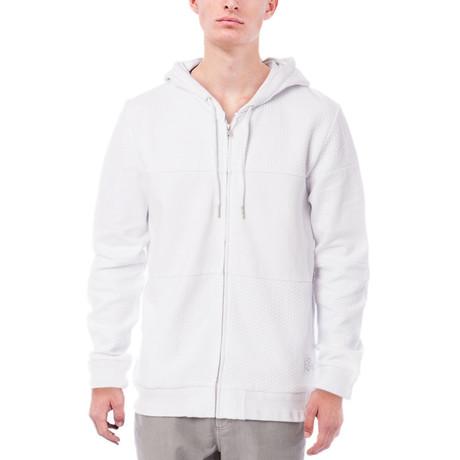 Murray Zip Up Hoodie // White (S)