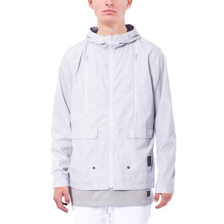 Carlton Hooded Zip Up Jacket // Light Grey (S)
