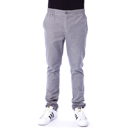 Jagger Cinch Bottom Slub Pants // Grey (S)