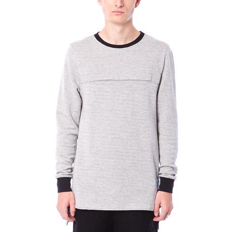 Bentley Long-Sleeve Zip Pouch Shirt // Grey Heather (S)