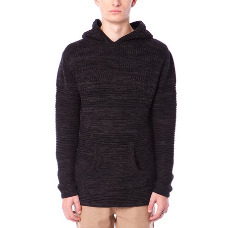Phillips Hooded Sweater // Heather Black (S)