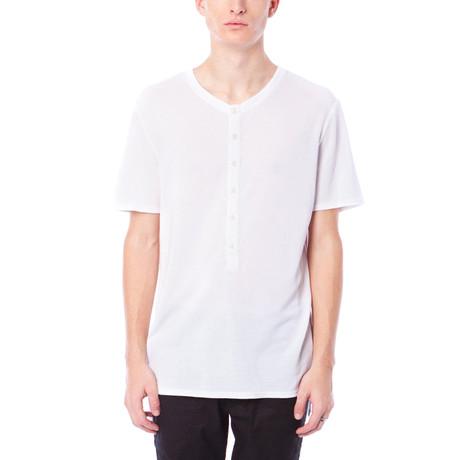 Sullian French Terry Short-Sleeve Henley // Bright White (S)