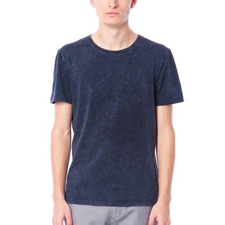 Crandell Short-Sleeve Jersey Tee + High Low Hem // Dark Sapphire (S)