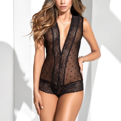 Christy Babydoll Romper // Black (XS)