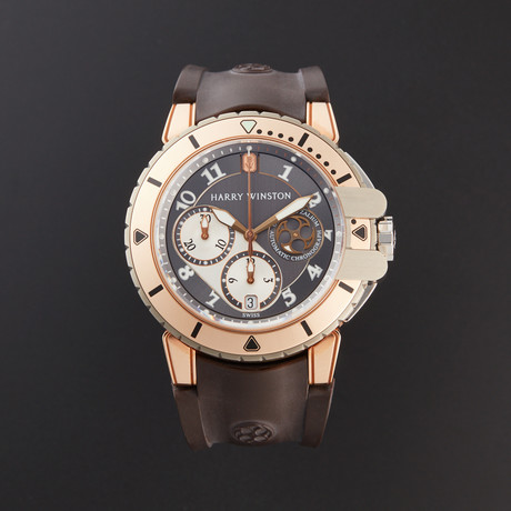 Harry Winston Ocean Diver Chronograph Automatic // 410/MCA44RZC.A // Pre-Owned