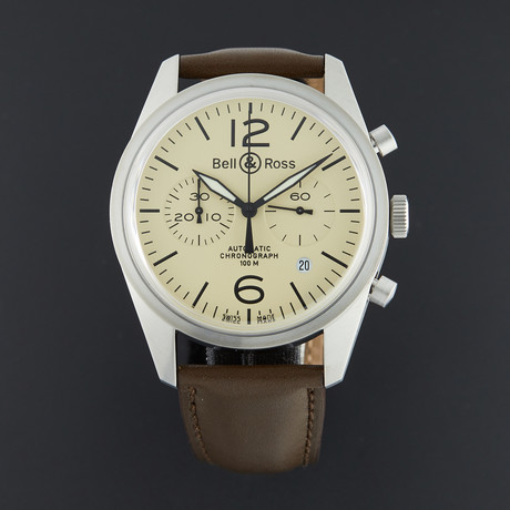 Bell & Ross Vintage Chronograph Automatic // BRV126-BEI-ST/SCA // Unworn