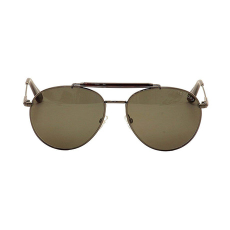 Tom Ford // Unisex Colin Aviator Sunglasses // Gunmetal Gray