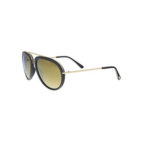 Tom Ford // Unisex Stacy Aviator Sunglasses // Black + Gold