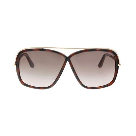 Tom Ford // Unisex Brenda Rectangular Sunglasses // Brown