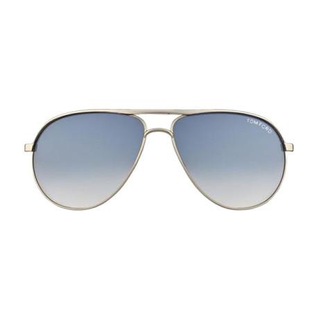 Tom Ford // Unisex Erin Aviator Sunglasses // Gold + Blue
