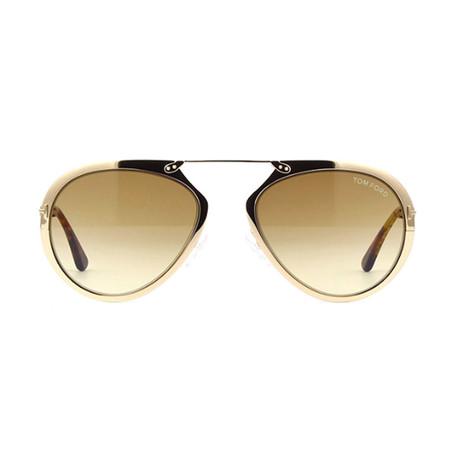 Tom Ford // Unisex Dashel Aviator Sunglasses // Gold