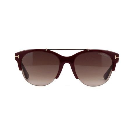 Tom Ford // Unisex Adrenne Aviator Sunglasses // Burgundy