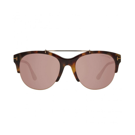 Tom Ford // Unisex Adrenne Aviator Sunglasses // Havana Brown Tortoise
