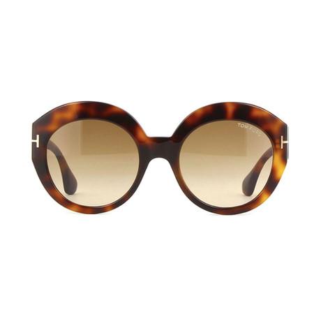 Tom Ford // Unisex Rachel Oval Sunglasses // Brown