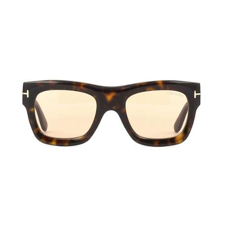 Tom Ford // Unisex Ernesto Rectangular Sunglasses // Brown