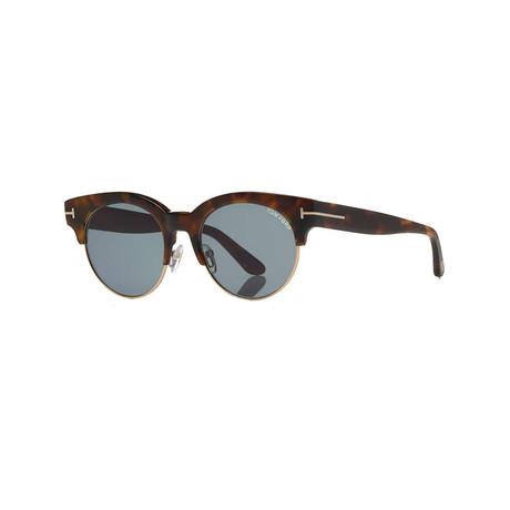 Tom Ford // Unisex Henri Circular Sunglasses // Brown