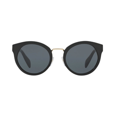 Prada // Unisex Circular Frame Sunglasses // Black