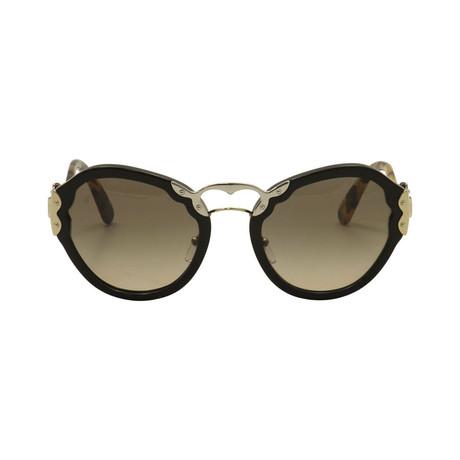 Prada // Unisex Butterfly Frame Sunglasses // Black Tortoise