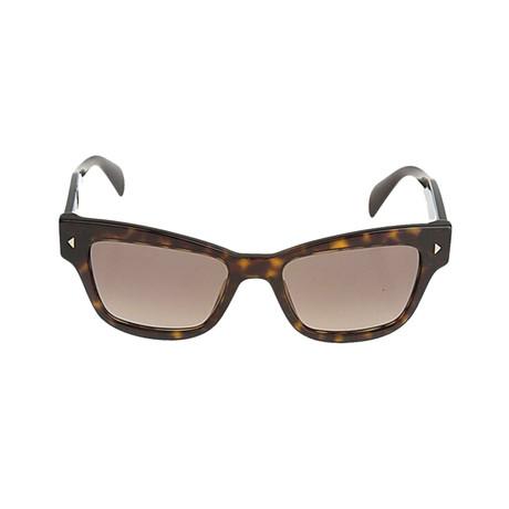 Prada // Unisex Rectangular Frame Sunglasses // Tortoise