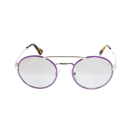 Prada // Unisex Circular Frame Sunglasses // Fuchsia