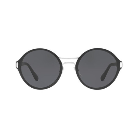 Prada // Unisex Round Frame Sunglasses // Black